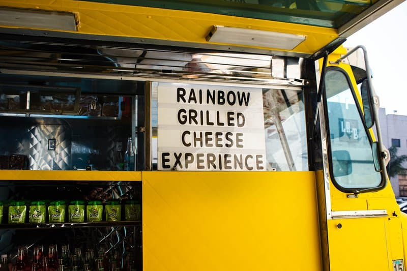 Happy place serves these unique rainbow grilled cheeses, I just like their food truck.
