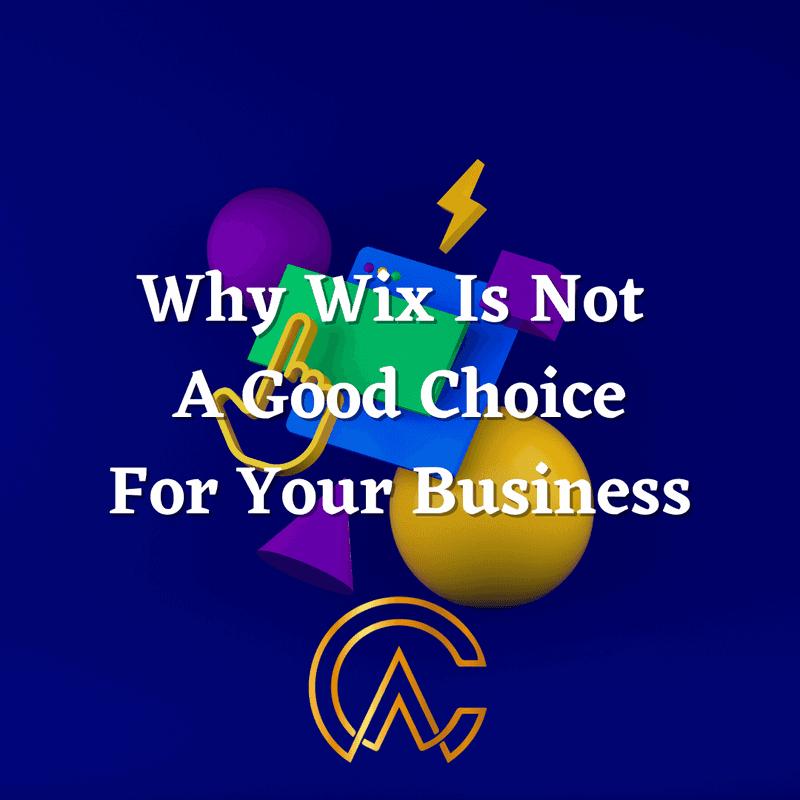 disadvantages of wix